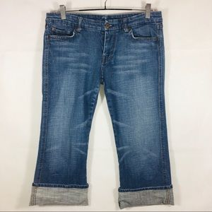 7 for All Mankind Pocket A Crop Denim